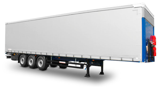 TRUCKS WITH THREE-SIDED ROLL OR TAUTLINER SYSTEMS