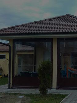PVC transparent foils for terraces